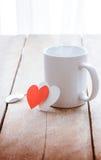 Café et coeur rouge Photo libre de droits