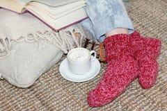 Café et confort Photo stock