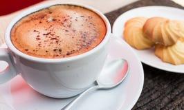 Café et coupure Image stock