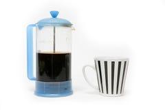 Café et cuvette Photographie stock
