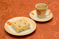 Café et dessert Photographie stock libre de droits