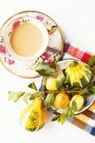 Café et fruits Photos libres de droits