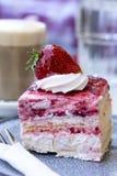 Café et gâteau images stock