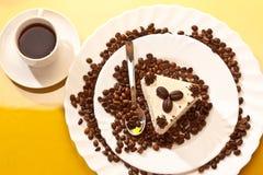 Café et gâteau photos stock