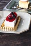 Café et gâteau au fromage Photographie stock libre de droits