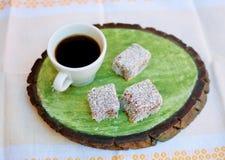 Café et gâteaux Photo stock