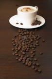 Café et grains de café Image stock
