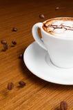 Café et grains de café Images stock
