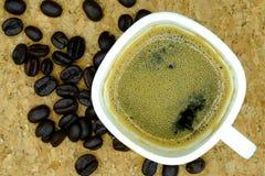 Café et grains de café Photo stock