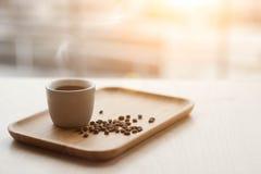 Café et grains de café chauds Image stock
