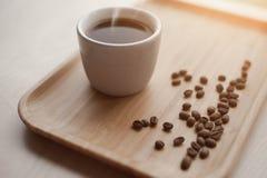 Café et grains de café chauds Images stock