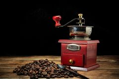 Café et grains de café intenses Images stock
