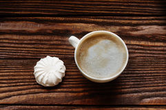 Café et guimauves Photographie stock