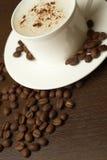 Café et haricots Images stock