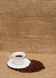 Café et haricots Image stock