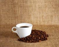 Café et haricots Photographie stock libre de droits