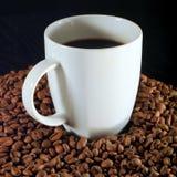 Café et haricots Photo stock