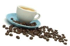 Café et haricots Image libre de droits