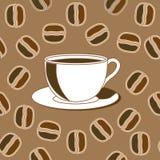 Café et haricots de Java illustration stock