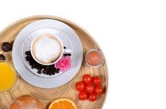 Café et jus de petit déjeuner Images stock