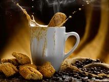 Café et lait Images stock