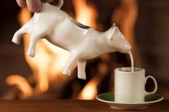 Café et lait Photographie stock libre de droits