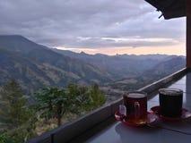Café et montagne Photographie stock