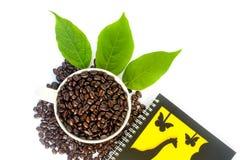 Café et note Photographie stock libre de droits