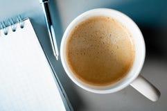 Café et notes images libres de droits