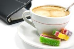 Café et organisateur photos stock