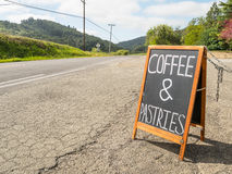 Café et pâtisseries Image libre de droits