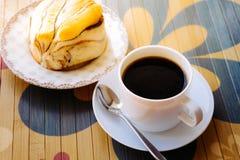 Café et pain Images stock