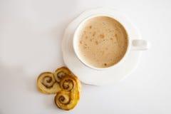 Café et palmiers Image libre de droits