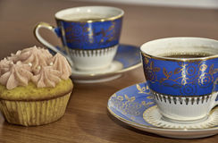 Café et petit gâteau Image stock