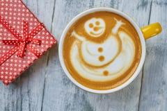 Café et présent, vue supérieure photographie stock libre de droits
