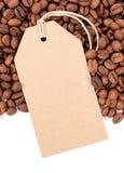 Café et sèche d'isolement sur le fond blanc photo stock