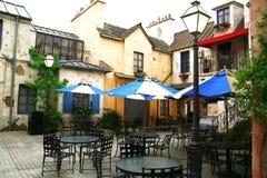 Café europeo de la calle Fotografía de archivo