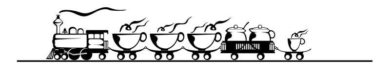 Café exprès, train de café image libre de droits