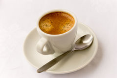 Café express 4 de la taza Imágenes de archivo libres de regalías