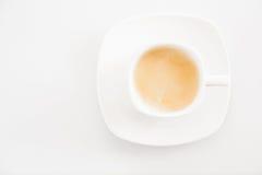 Café express blanc de café de cuvette Tasse de café Image libre de droits