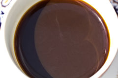 Café express blanco del café de la taza imagenes de archivo