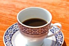 Café express blanco del café de la taza Fotos de archivo libres de regalías