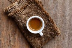Café express blanco del café de la taza Taza de café fotos de archivo libres de regalías