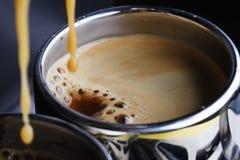 Café express caliente foto de archivo