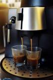 Café express de brassage Photographie stock libre de droits
