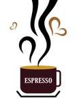 café express de cuvette de café Photographie stock
