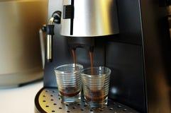 Café express de la elaboración de la cerveza Imagen de archivo libre de regalías