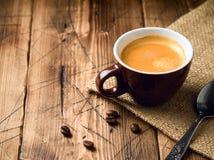 Café express de la taza de café imagen de archivo libre de regalías