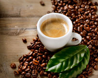 Café express del café Imagen de archivo