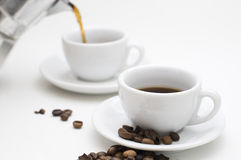 Café express delicioso Foto de archivo libre de regalías